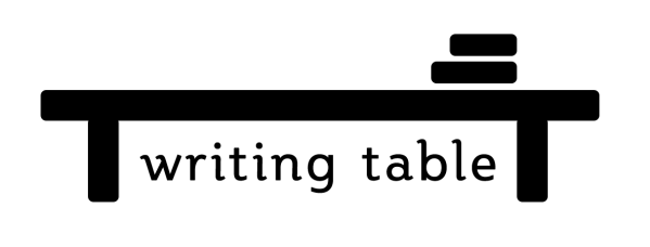 writing table logo